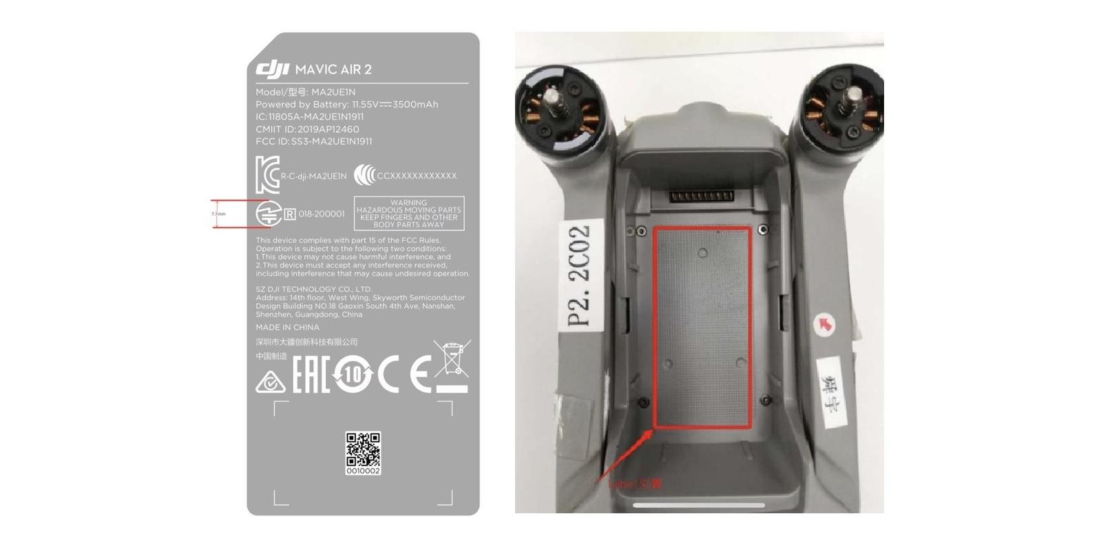 Новые фотографии DJI Mavic Air 2 показывают, что дрон не имеет верхних датчиков обхода препятствий