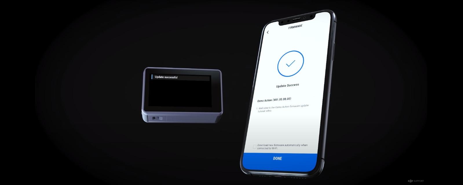 Обновление прошивки экшн-камеры DJI Osmo Action – v01.09.00.10