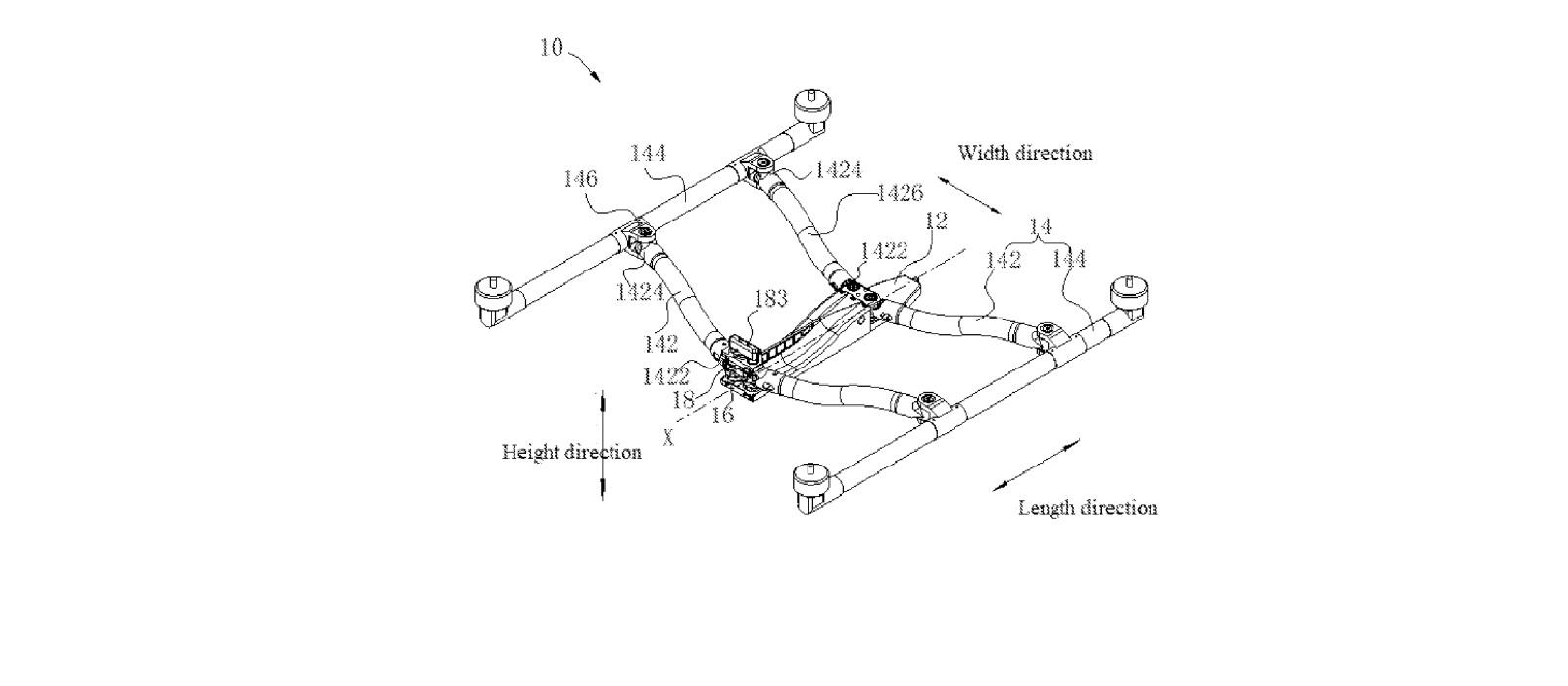 Новая система складывания дрона, над которой работает DJI