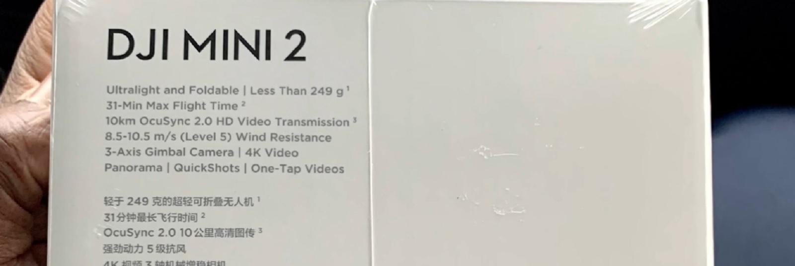 Технические характеристики DJI Mini 2: 4K-видео и Ocusync 2.0