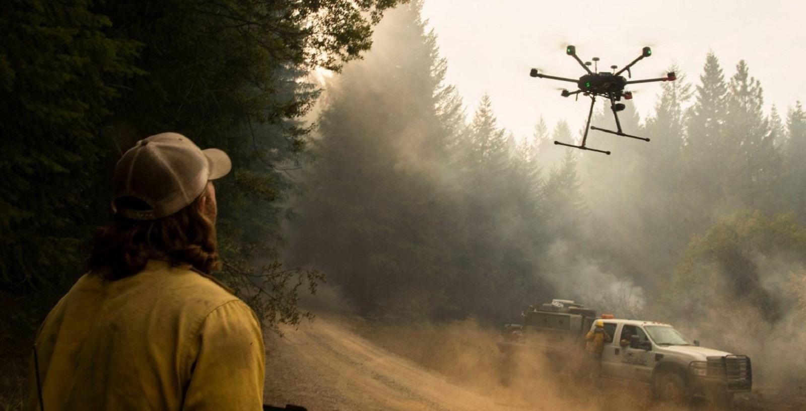 Дроны в борьбе с лесными пожарами